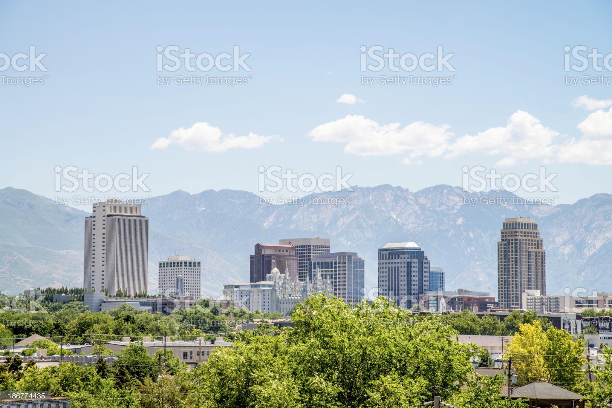 Salt Lake City Skyline royalty-free stock photo