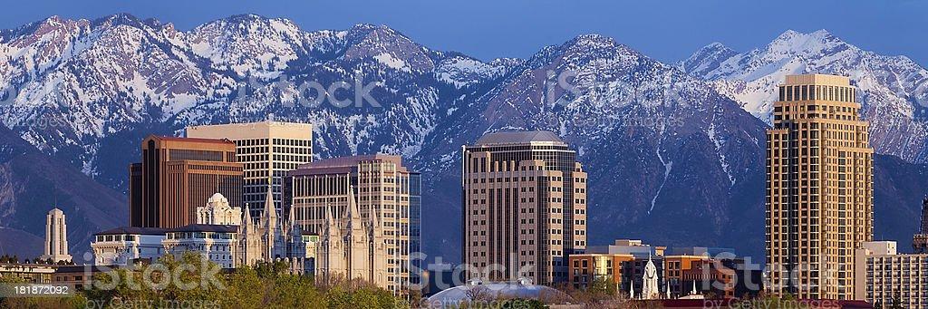 Salt Lake City Skyline Web Rectangle Panorama stock photo