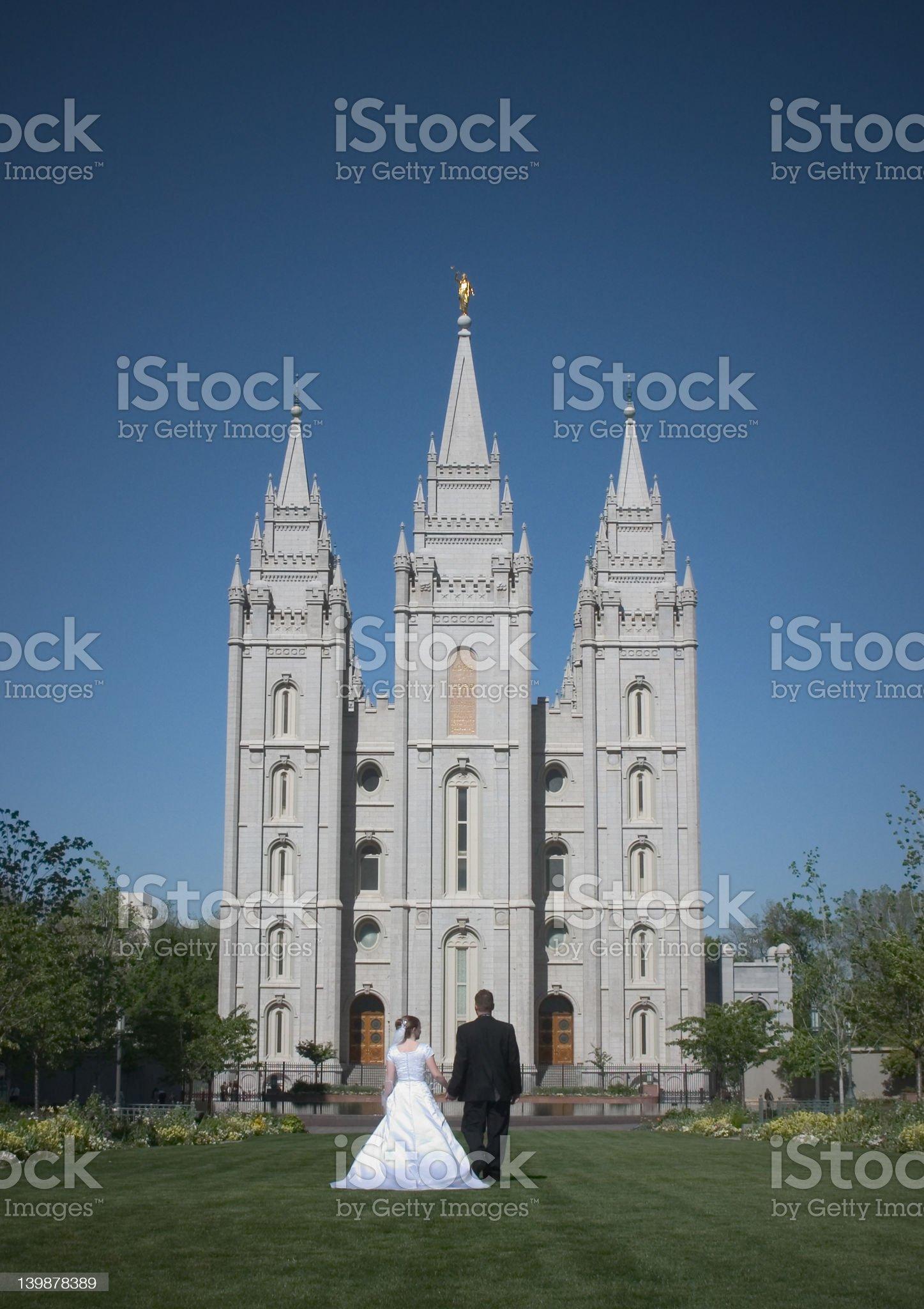 Salt Lake City Temple royalty-free stock photo