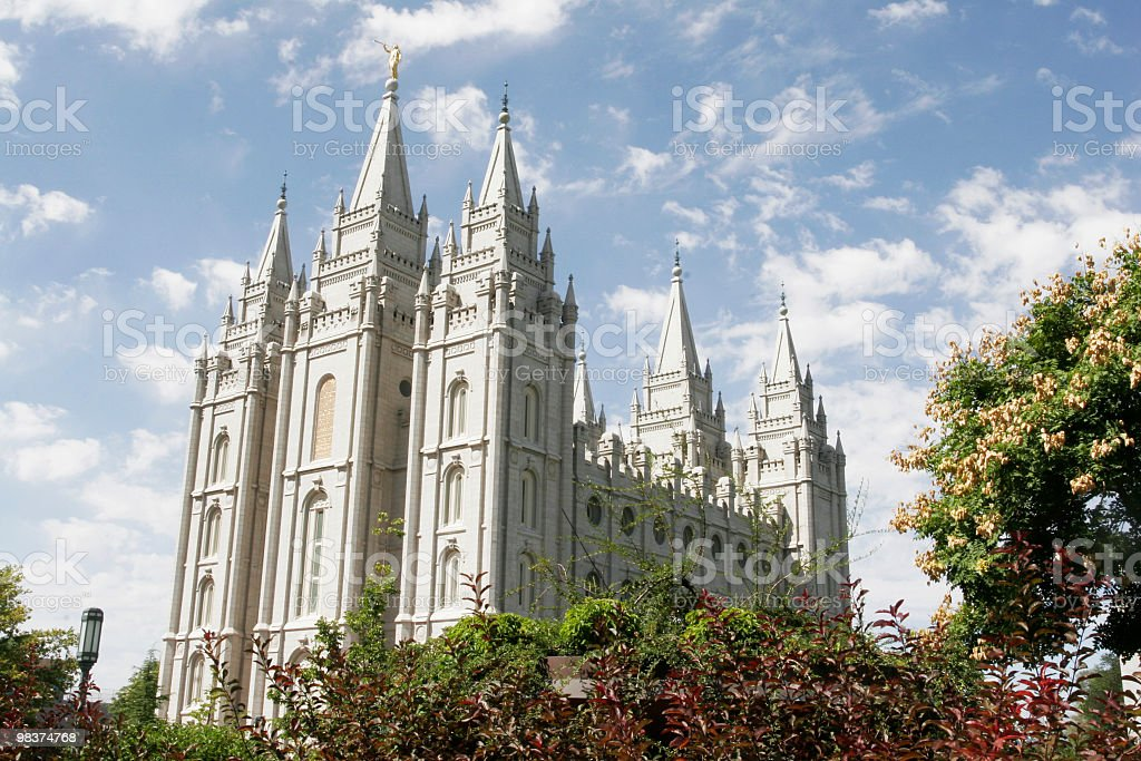 Salt Lake City Temple stock photo