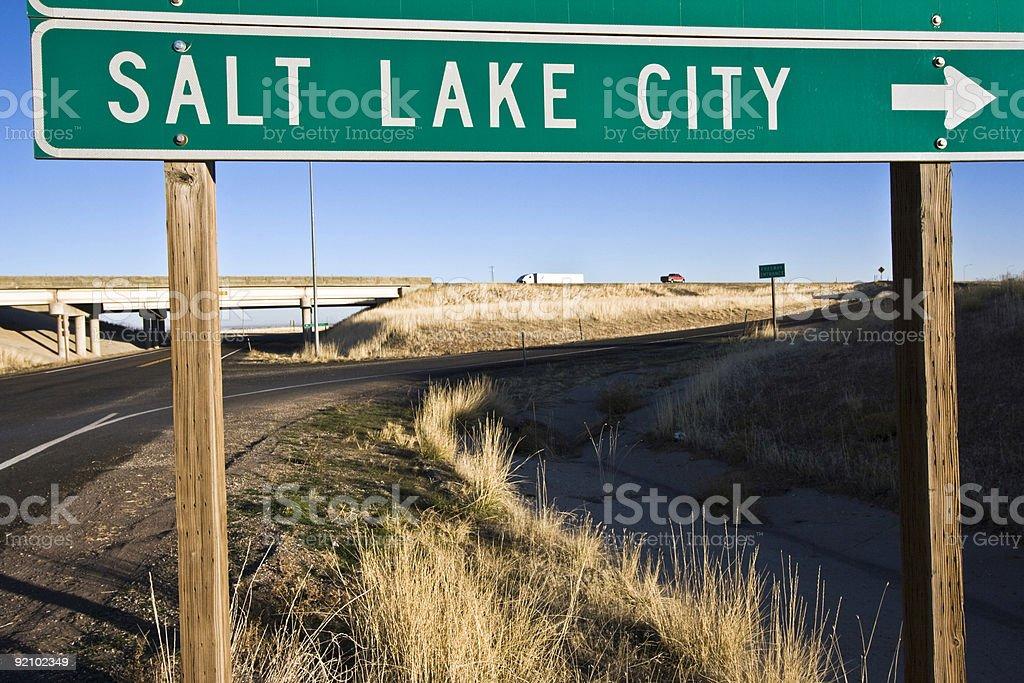 Salt Lake City - this way royalty-free stock photo