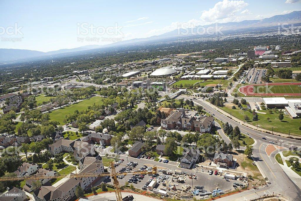 Salt Lake City Utah aerial of cityscape royalty-free stock photo