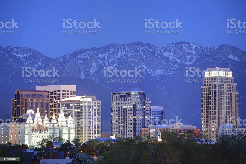 Salt Lake City Utah stock photo