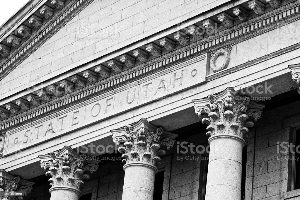 Salt Lake City Utah State Neoclassical Columns stock photo