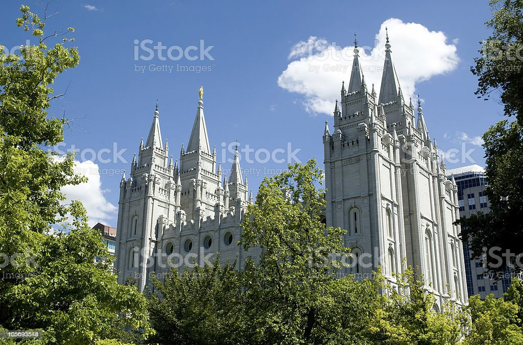 Salt Lake City, Utah Temple of the LDS (Mormon) Church stock photo