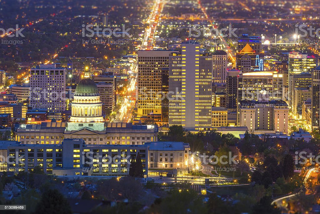 Salt Lake City, Utah, USA stock photo