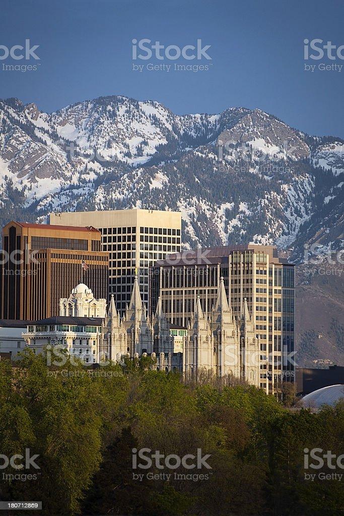 Salt Lake City, Utah, USA Skyline, Downtown Central stock photo