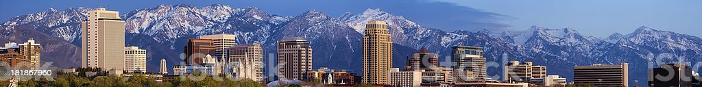 Salt Lake City Utah USA Web Leaderboard Skyline Panorama stock photo