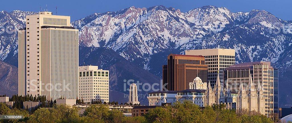 Salt Lake City Web Pop-under Skyline Panorama stock photo