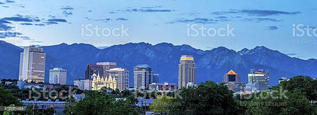 Salt Lake Cuty Utah skyline stock photo