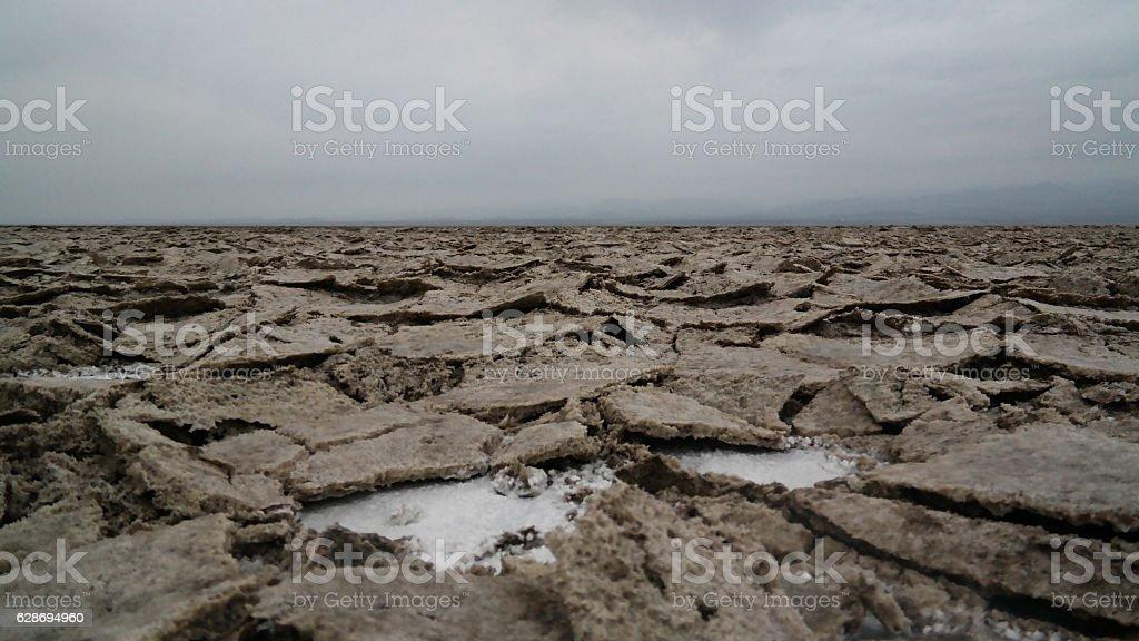 Salt Lake Karum aka Assale or Asale Afar, Ethiopia stock photo