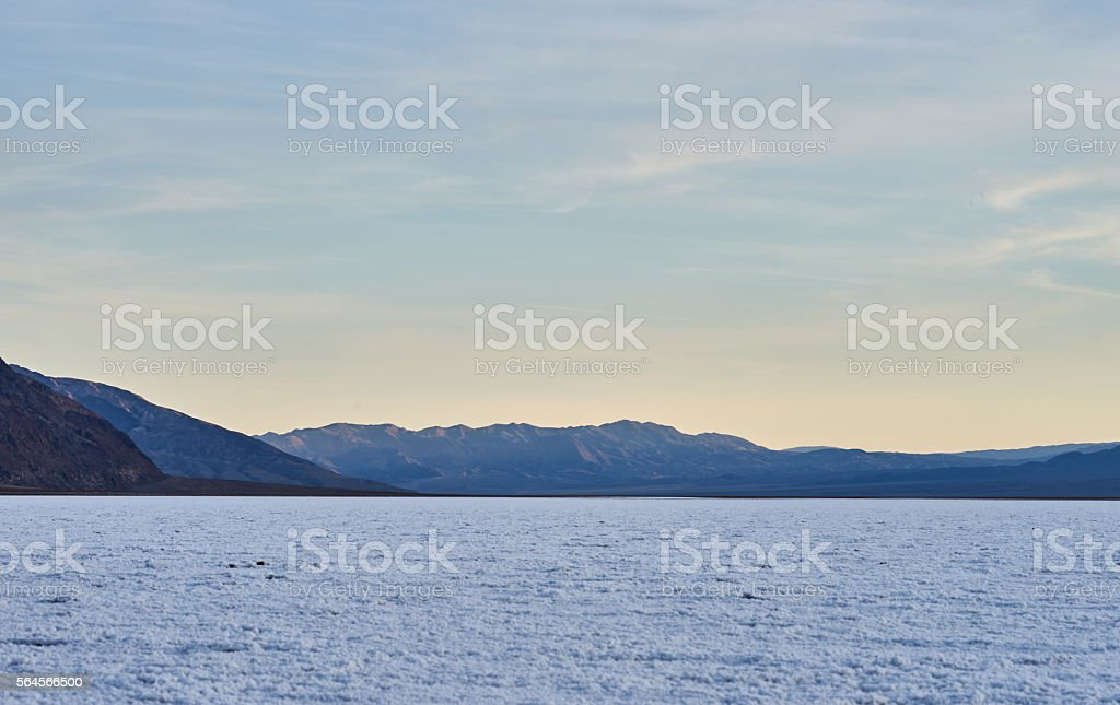 Salt lake sunset stock photo