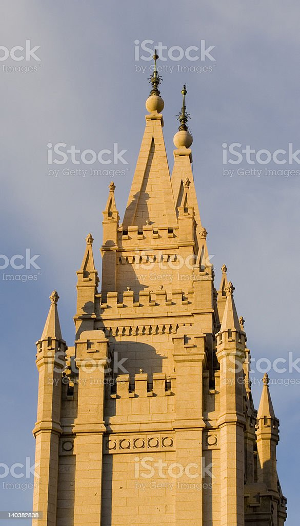 Salt Lake Temple Southeast Spire royalty-free stock photo
