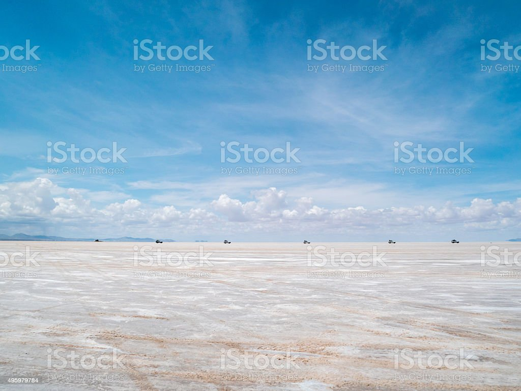 Salt Lake Uyuni in Bolivia royalty-free stock photo