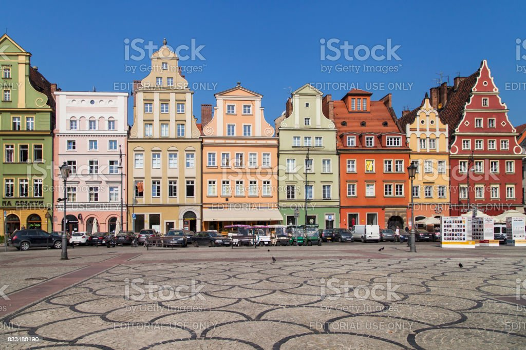 Salt Market Square in Wroclaw stock photo