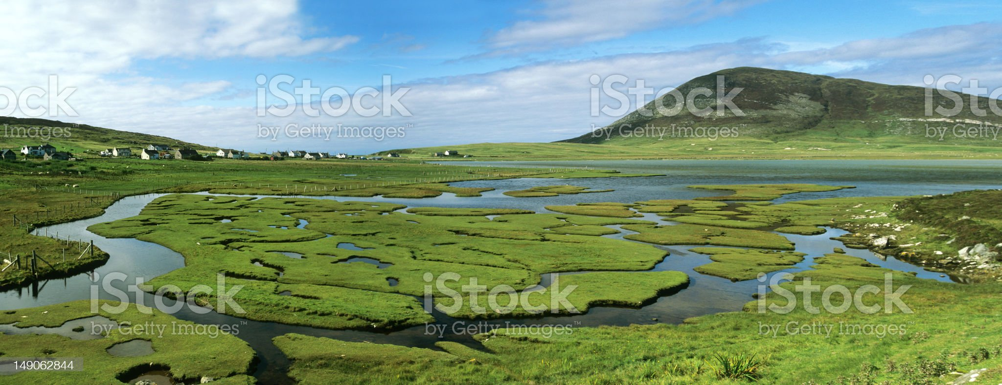 Salt marshes on Harris, Outer Hebrides royalty-free stock photo