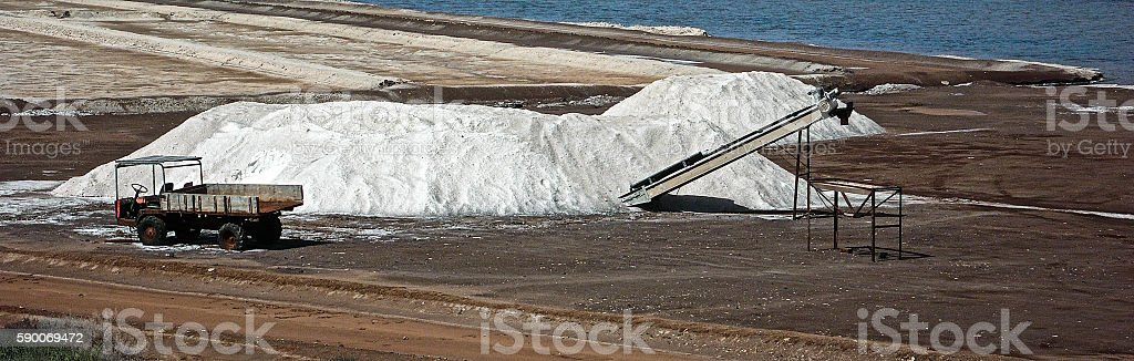 salt mine stock photo