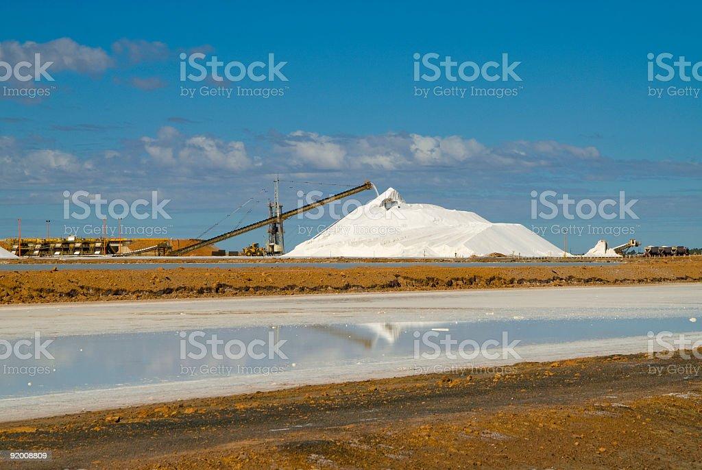 salt mine port hedland stock photo