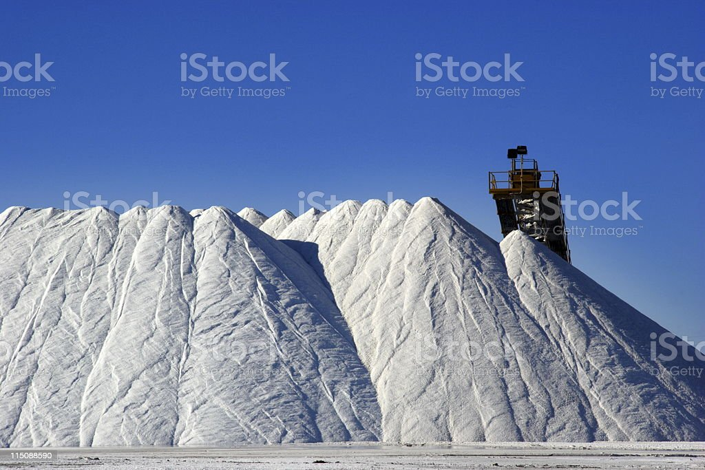 salt mound stock photo