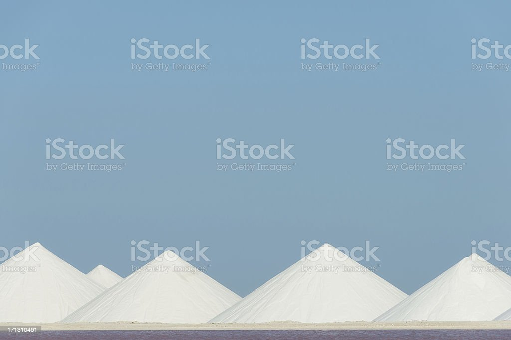 salt mountains stock photo