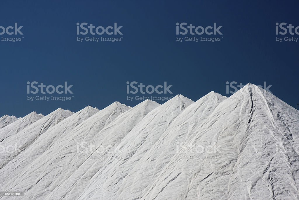 Salt, obtained from the evaporation of sea water stock photo