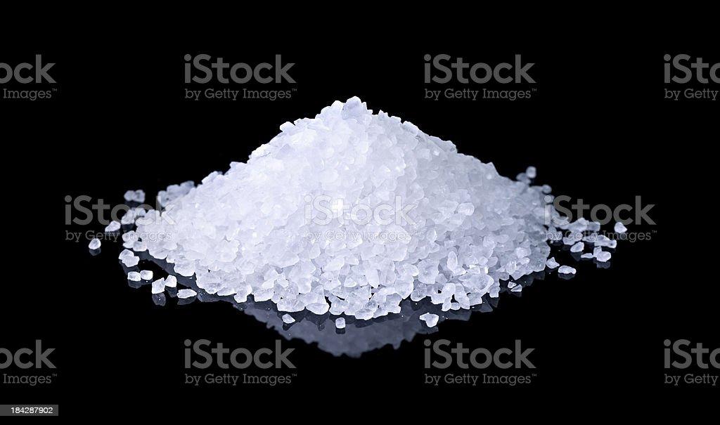 salt on black background stock photo