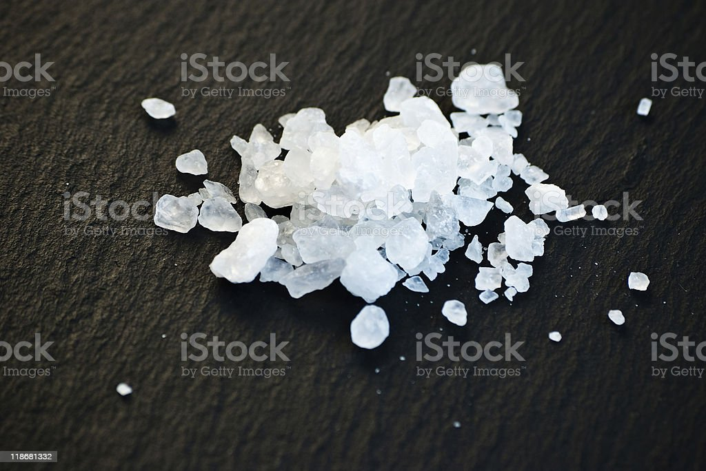 salt on black stock photo