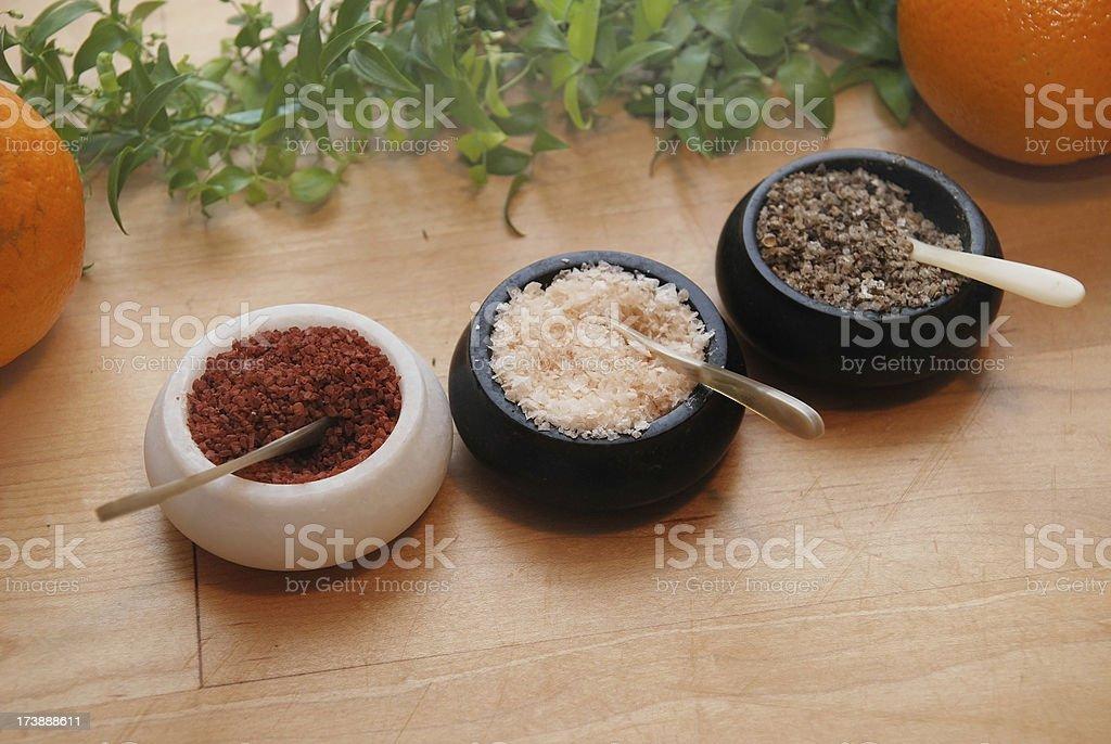 salt on table stock photo