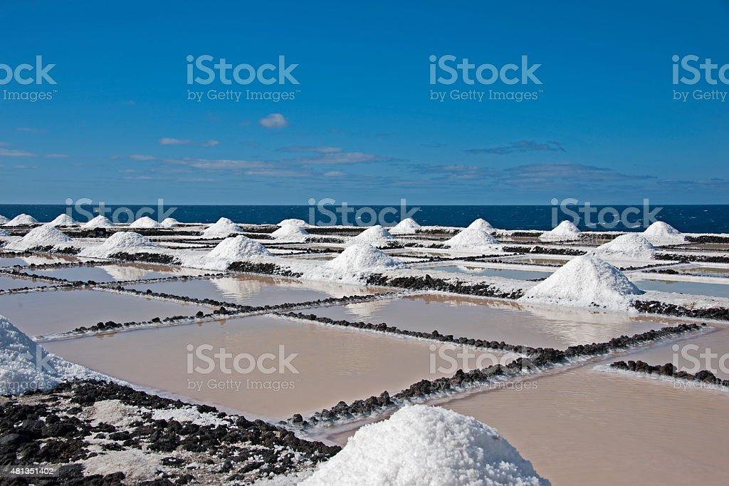 Salt Pans of Fuencaliente. stock photo