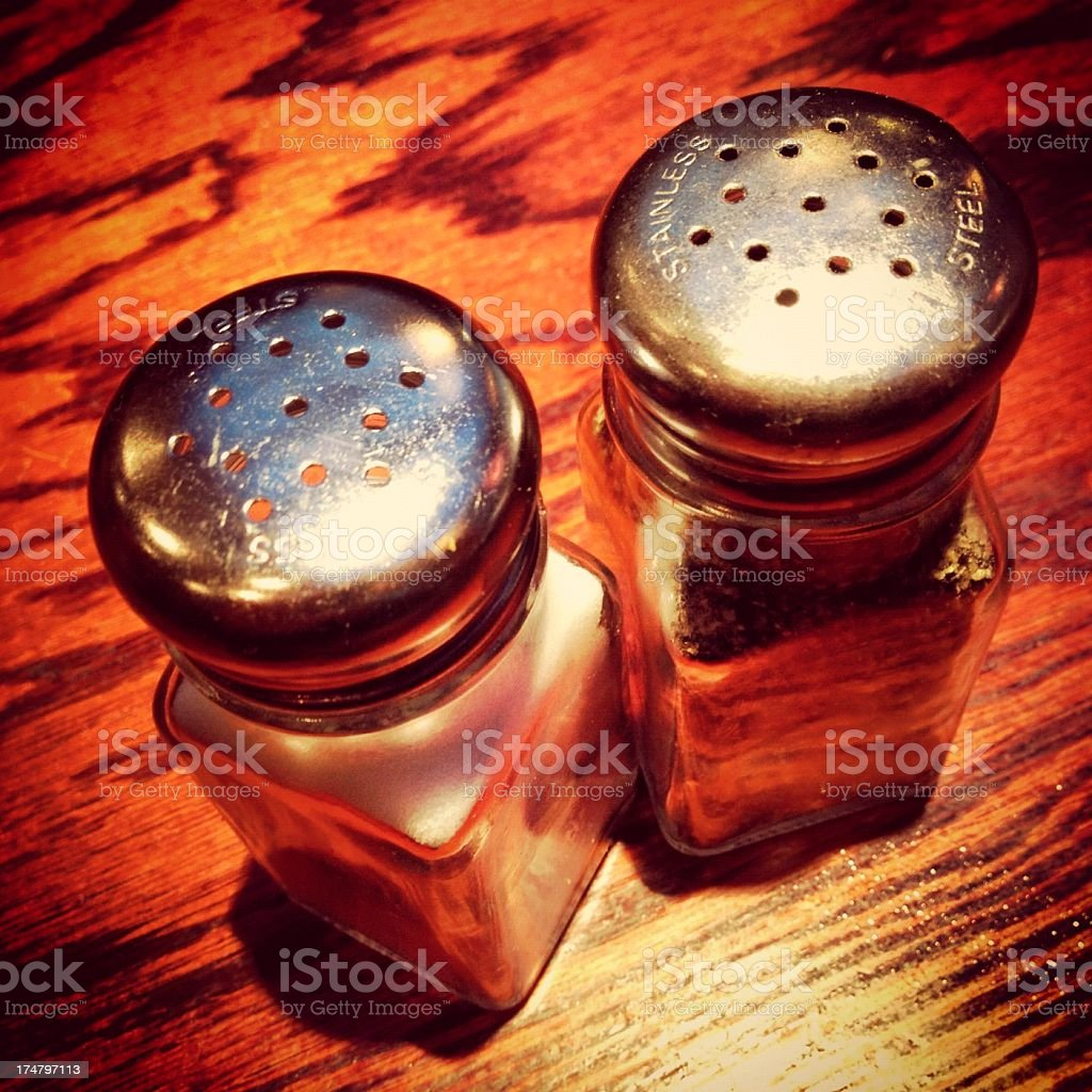 Salt & pepper shakers royalty-free stock photo