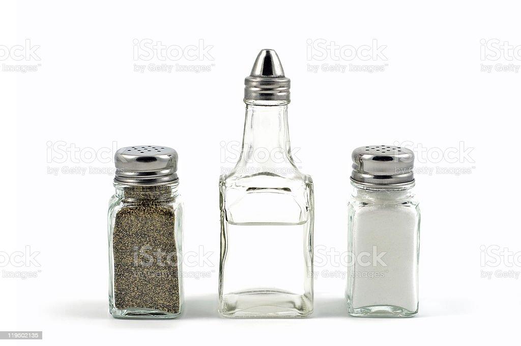 Salt, Pepper, Vinegar stock photo