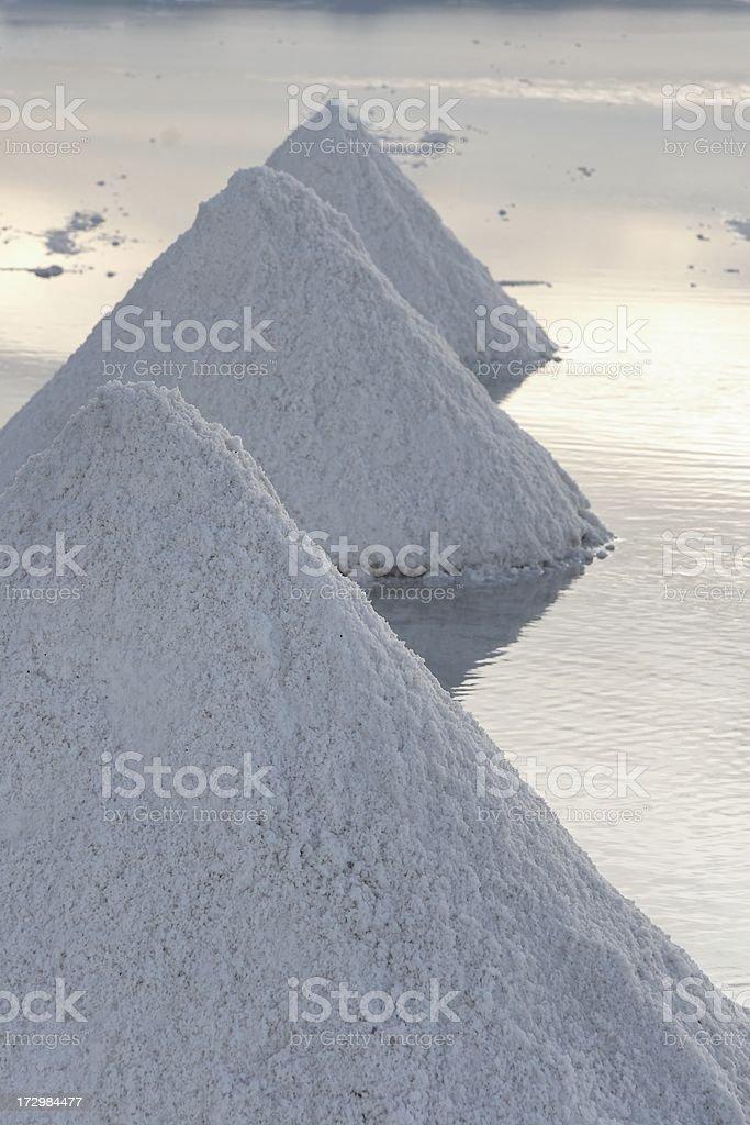Salt piles royalty-free stock photo