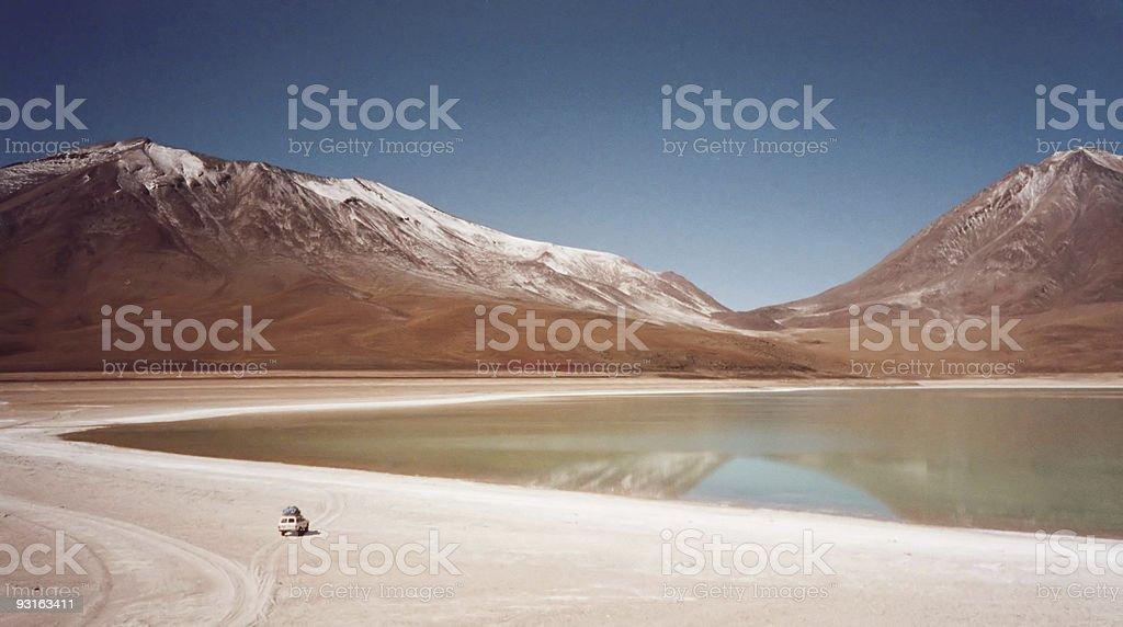 salt plain explorer Salar de Uyuni royalty-free stock photo