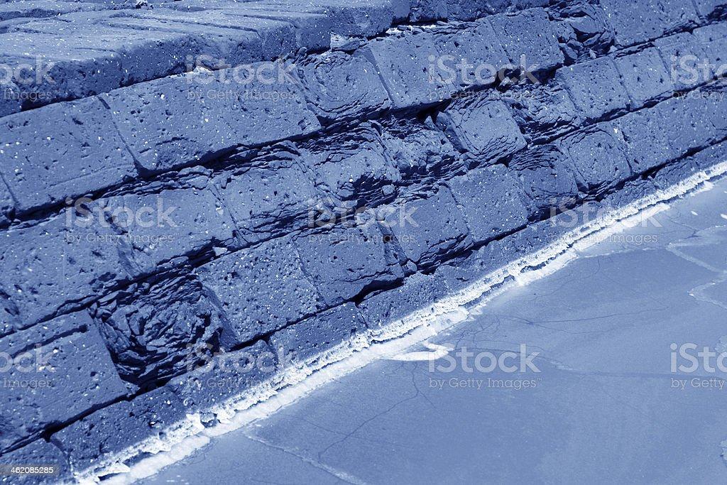 salt pond edge royalty-free stock photo