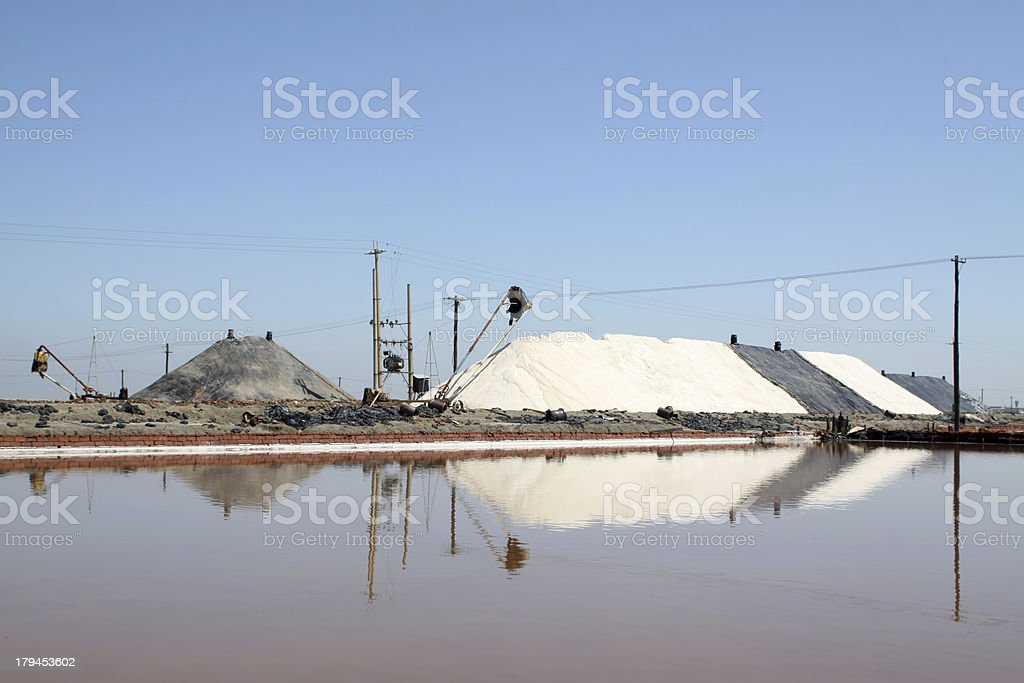 salt pond royalty-free stock photo