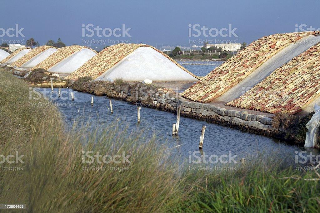 Salt ponds stock photo