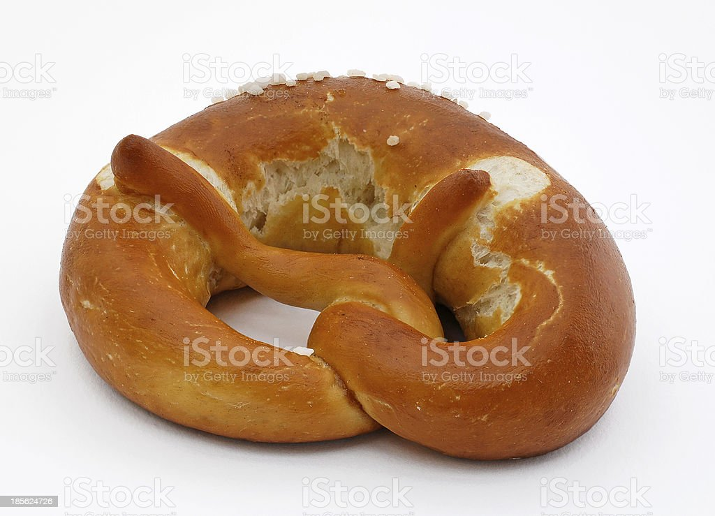 salt pretzel stock photo