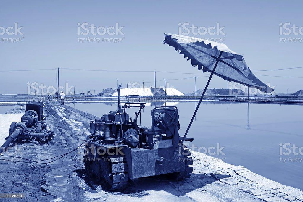 salt production machinery royalty-free stock photo