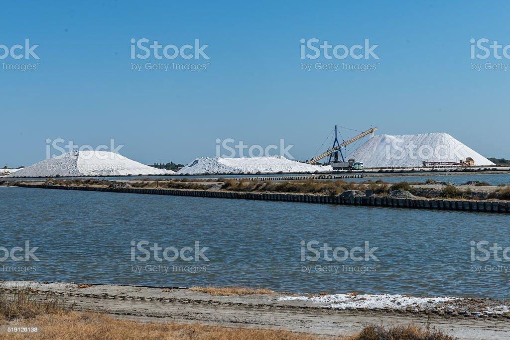 Salt Production stock photo