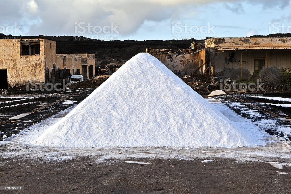 Salt refinery, Saline from Janubio, Lanzarote royalty-free stock photo