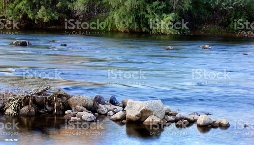 Salt River at Sunrise stock photo