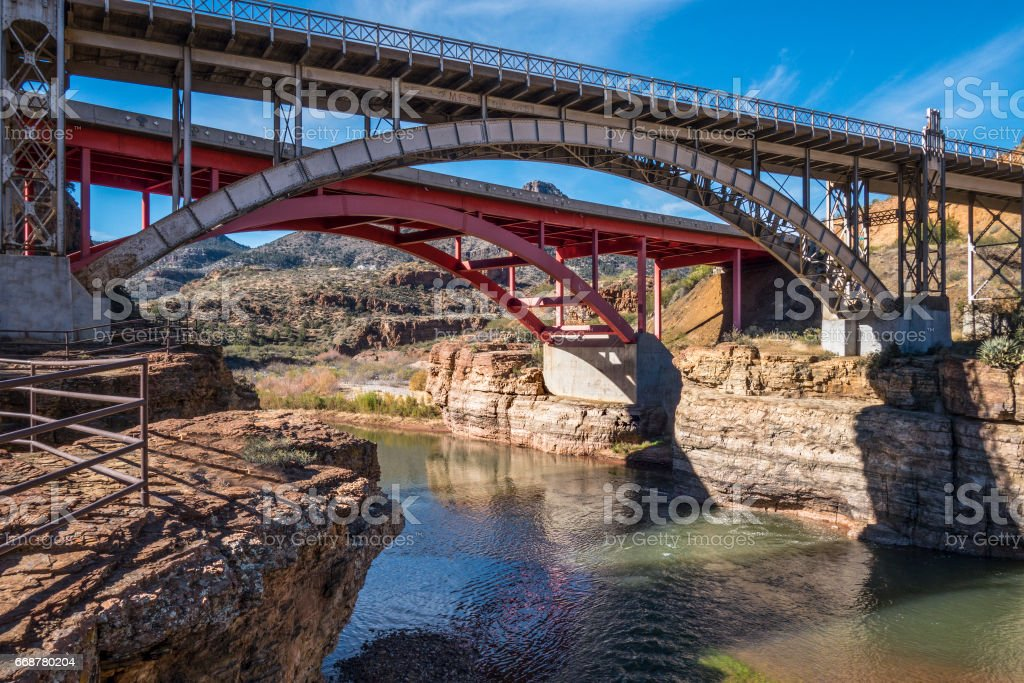 Salt River bridge stock photo