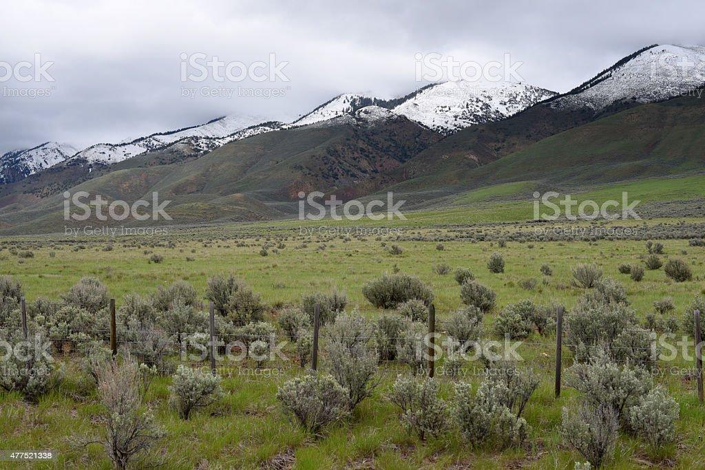 Salt River Range along U.S. Route 89 in western Wyoming stock photo