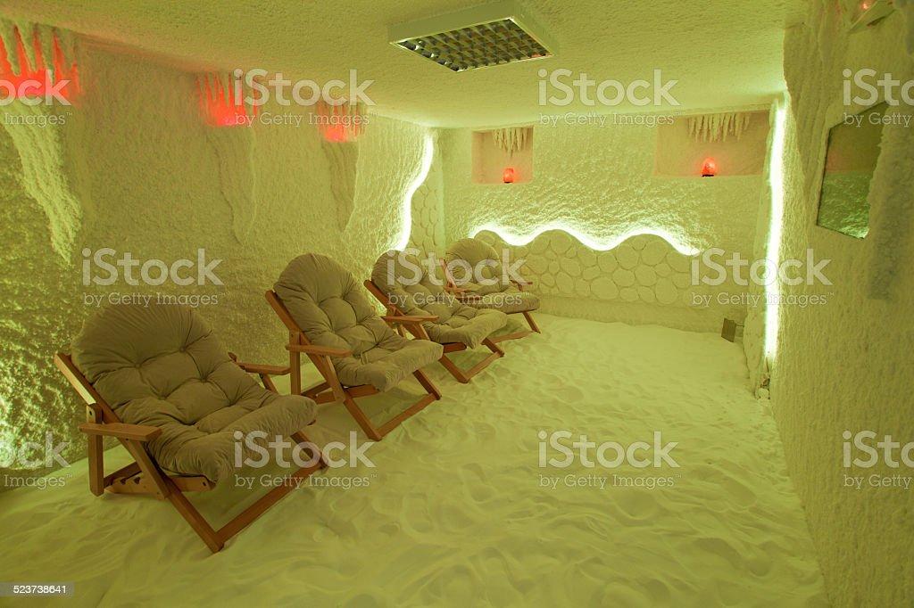 Habitación de sal foto de stock libre de derechos