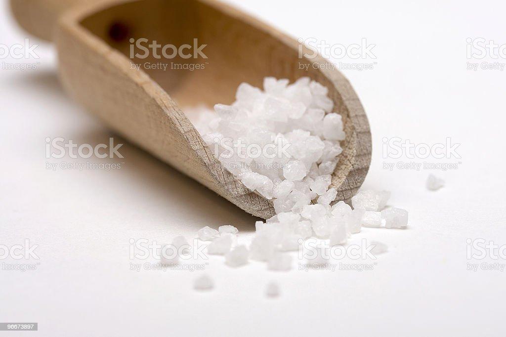 Salt scoop royalty-free stock photo