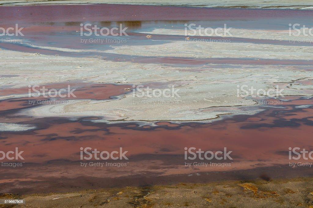 Salt sedimentation stock photo