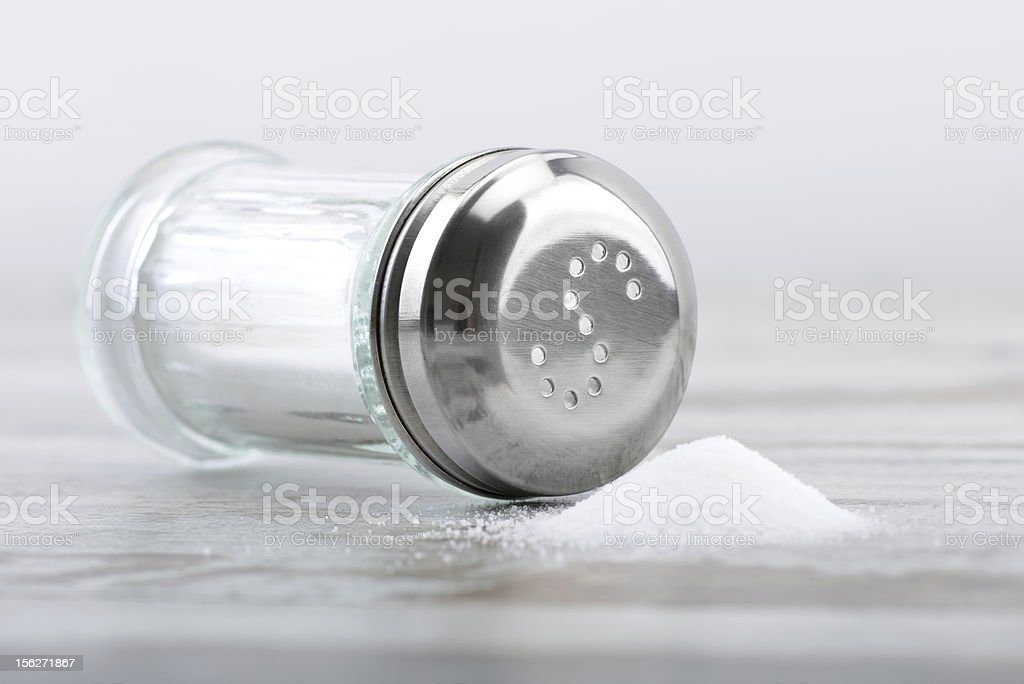 Salt Shaker Down royalty-free stock photo