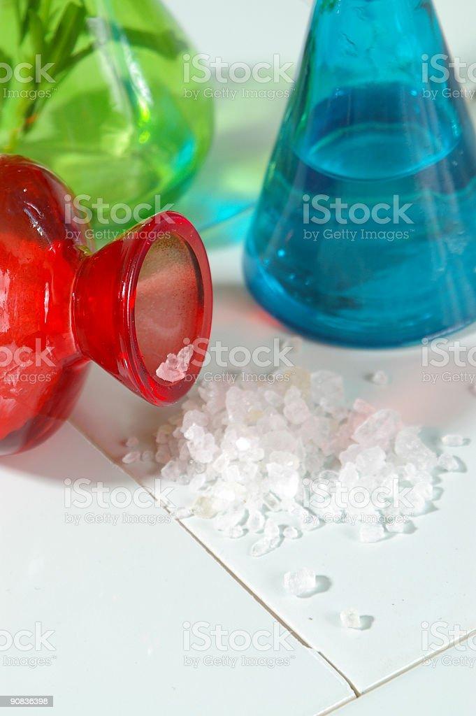 Salt Spill Vertical stock photo