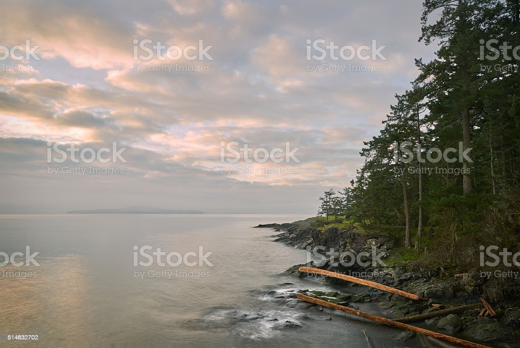 Salt Spring Island Shore, BC stock photo