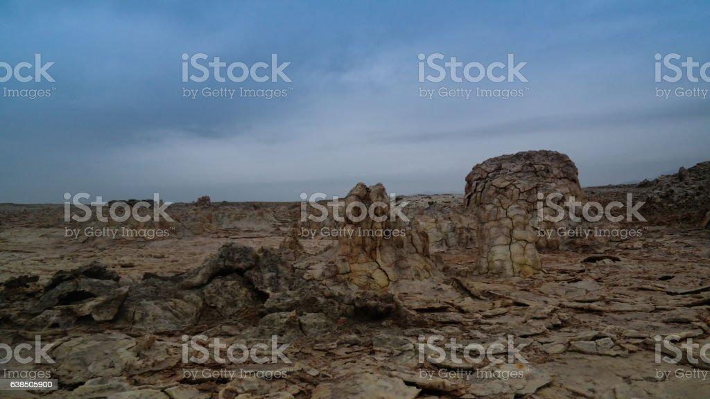 Salt structure close-up Dallol volcanic crater Danakil , Afar, Ethiopia stock photo
